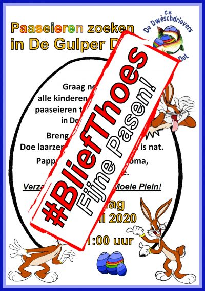 Paashaas Uitnodiging 2020 (#BliefThoes)